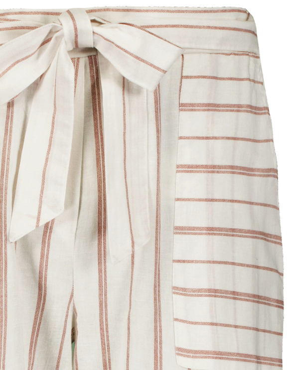 Pantalon Blanc Rayé