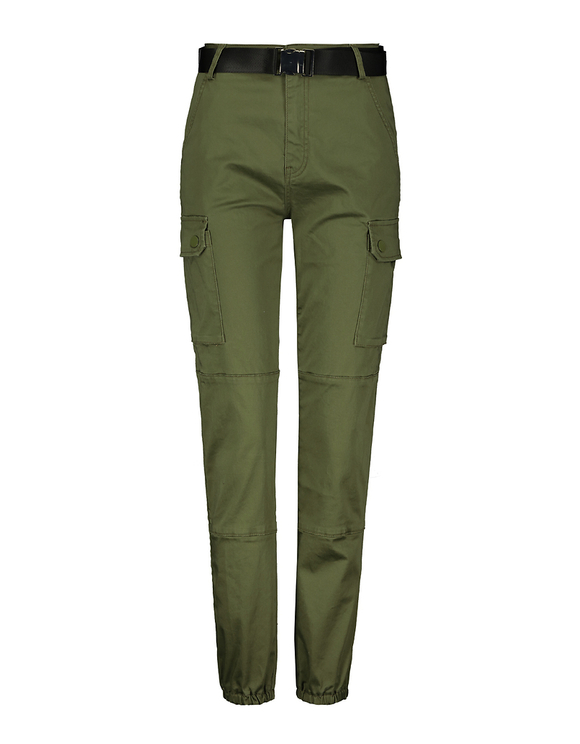 High Waist Belted Utility Cargo Pants