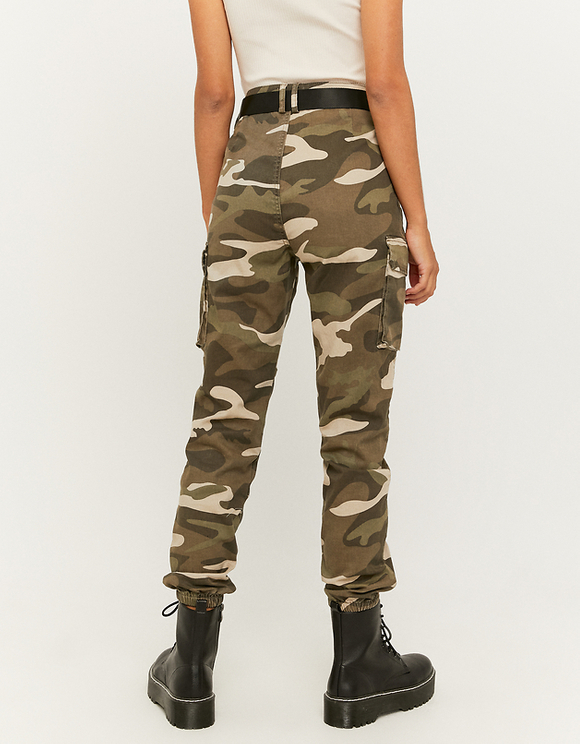 Camouflage Cargo Pants with Belt