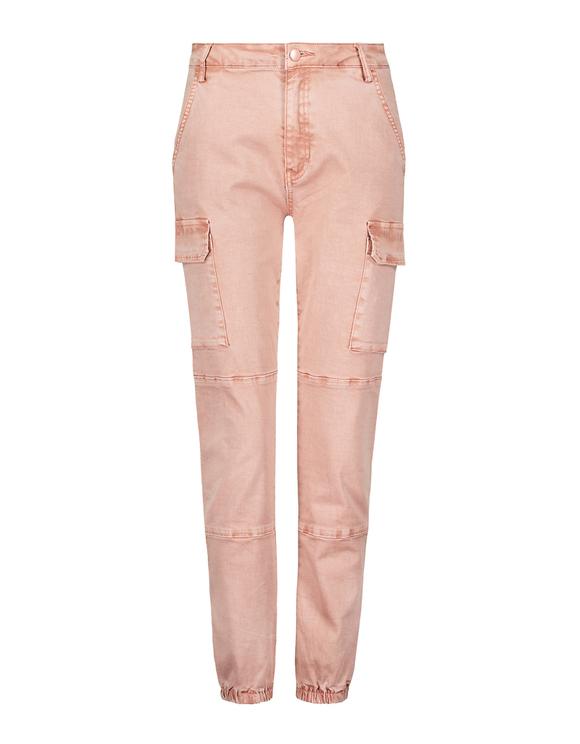 Pink High Waist Cargo Pants