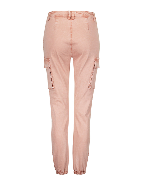 Pantalon Cargo Taille Haute Rose