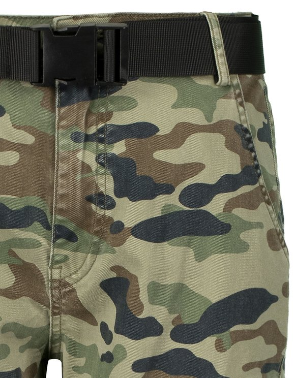 Camouflage Cargo Pants with Zip Details
