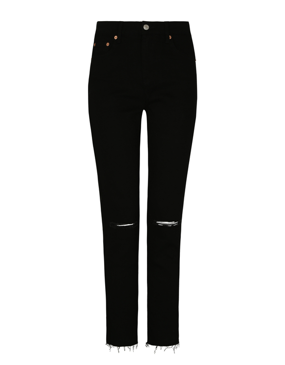 Mom Slim High Waist Trousers