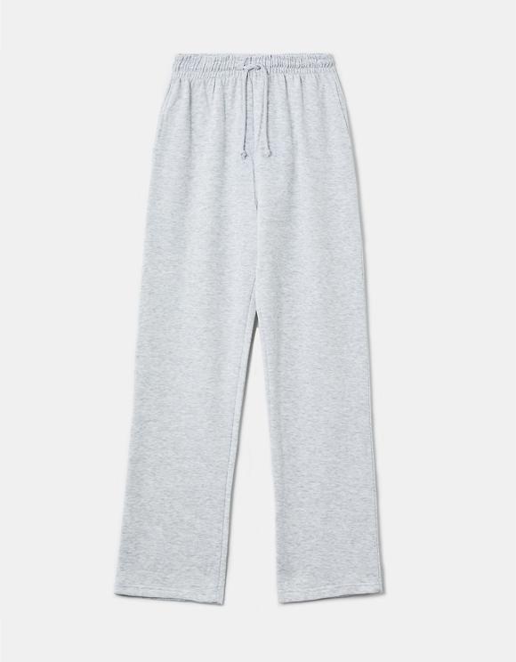 Pantaloni da Jogging Larghi a Vita Alta