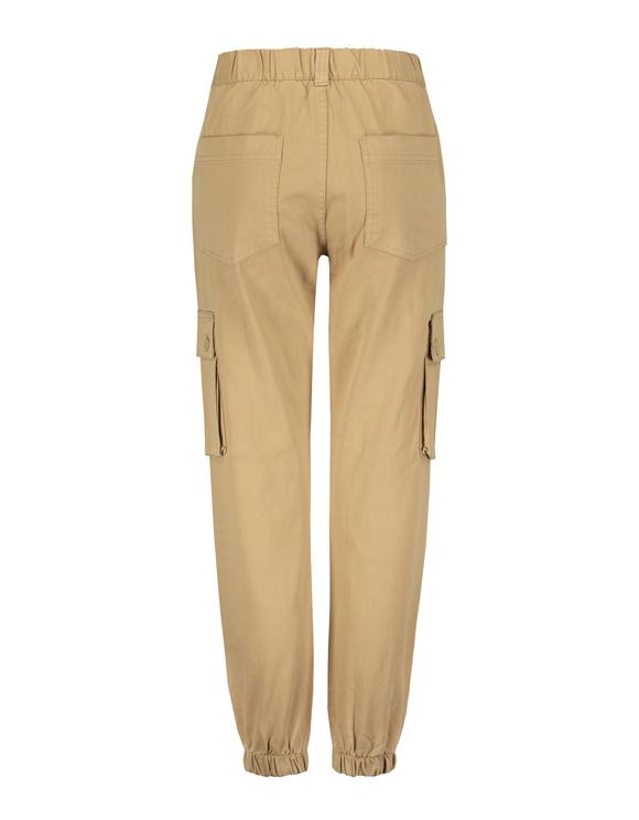 Beige High Waist Cargo Pants