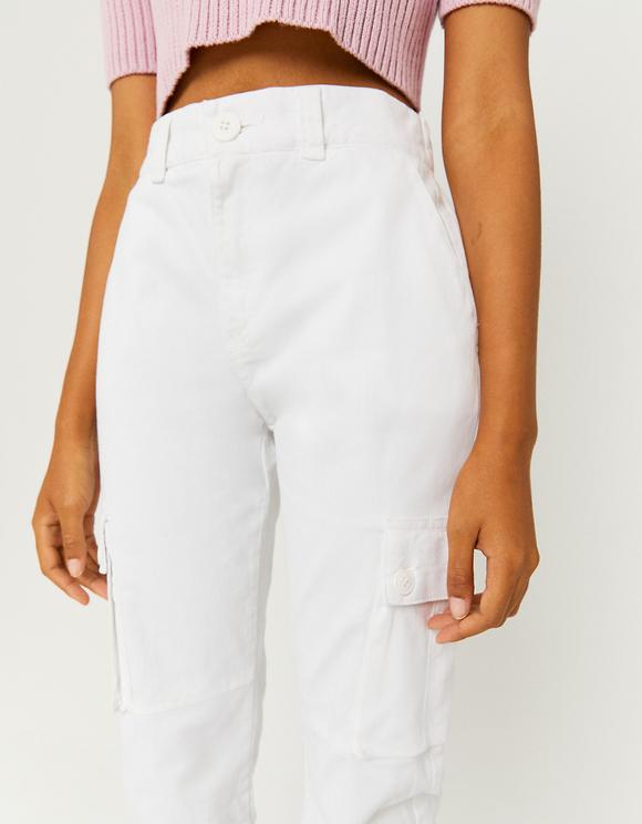 White Cargo Trousers