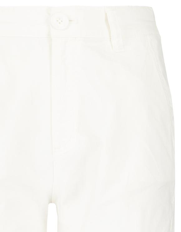 White High Waist Cargo Trousers