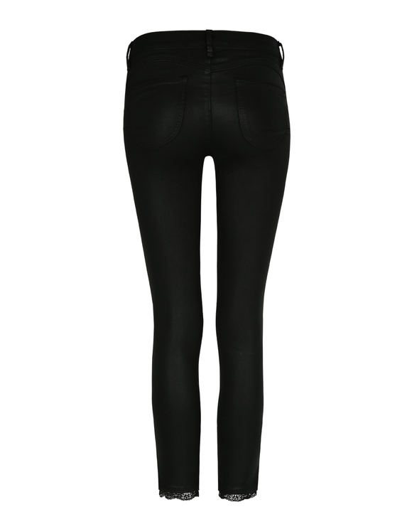 Push-Up Medium Waist Trousers with Lace