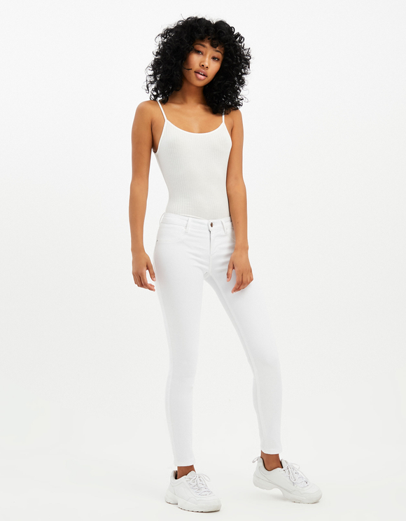 Medium Waist Push Up Skinny Hosen