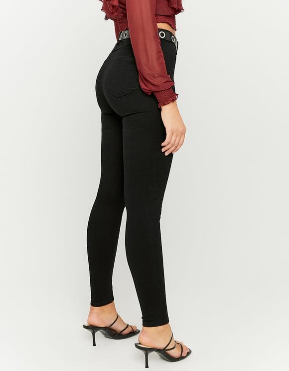 Black High Waist Push Up Trousers