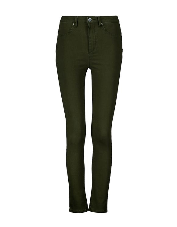 Pantaloni Push Up a Vita Alta Khaki