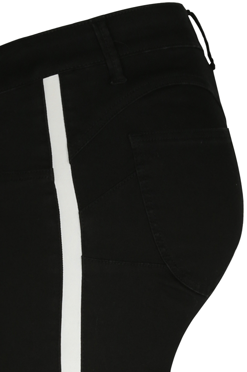 Schwarze Push-Up Hosen