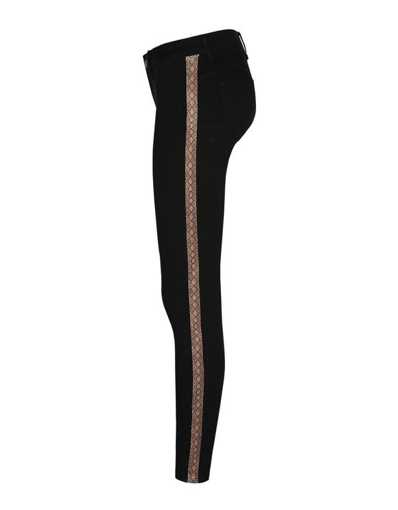 Black Push-Up Medium Waist Trousers