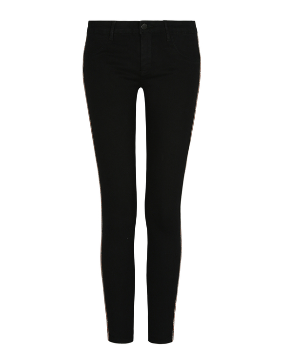 Black Push-Up Medium Waist Trousers