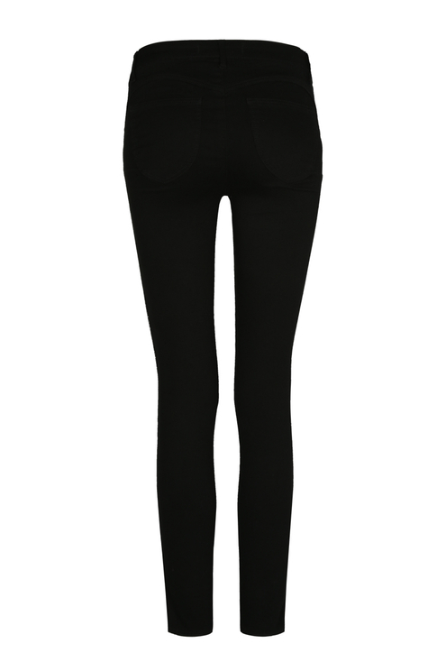 Black Side Stripe Push Up Trousers