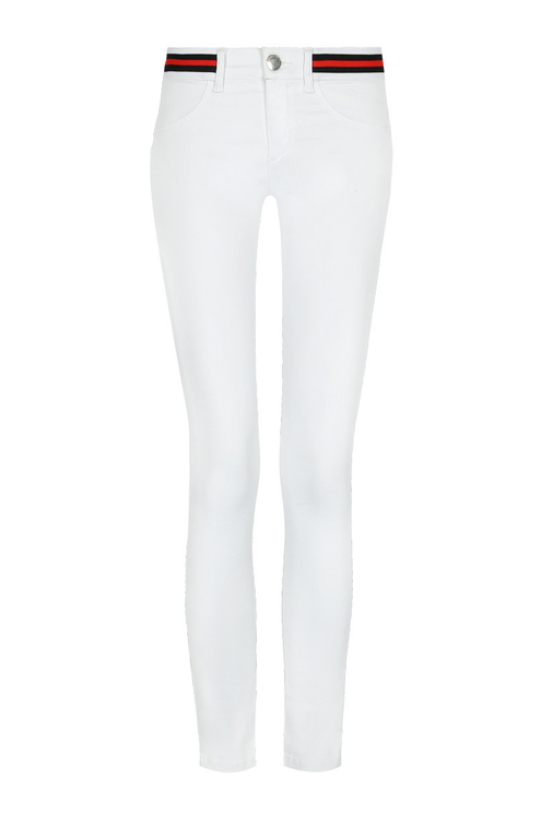 White Push Up Trousers
