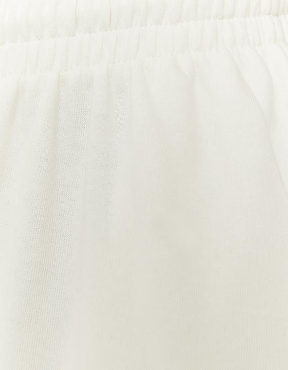 White High Waist Wide Leg Joggers