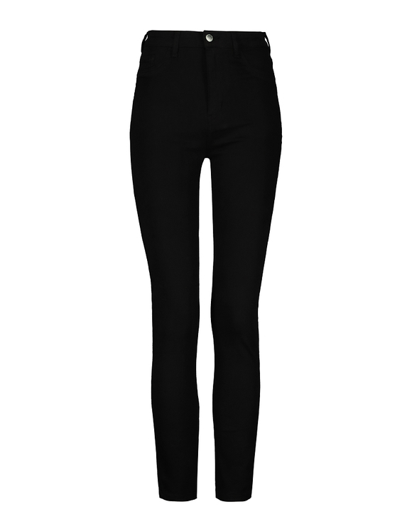 Czarne spodnie Skinny z wysokim stanem