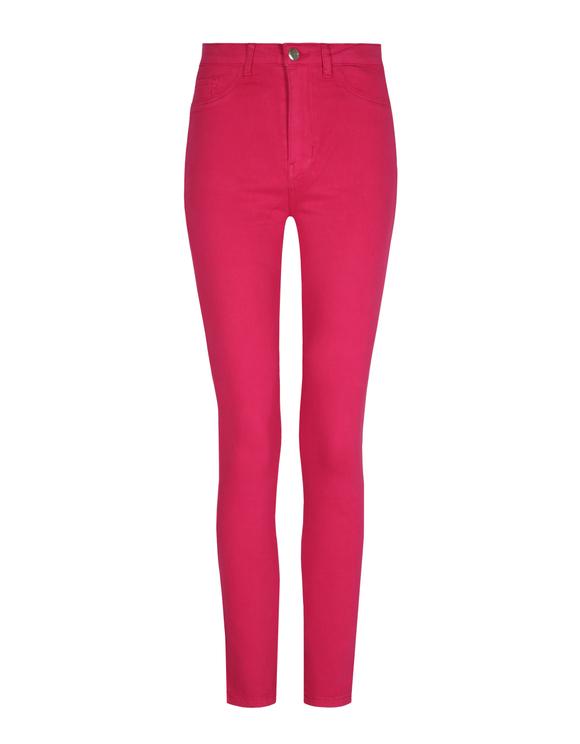 Fuchsia High Waist Skinny Trousers