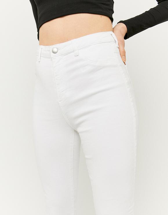 Pantaloni Skinny Bianchi a Vita Alta