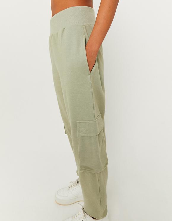 Pantaloni da Jogging Cargo Oversize a Vita Alta