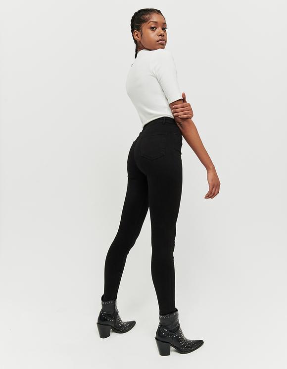 Pantalon Skinny Noir Taille Haute