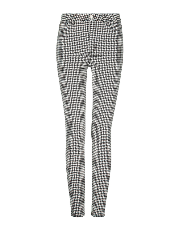High Waist Houndstooth Skinny Pants