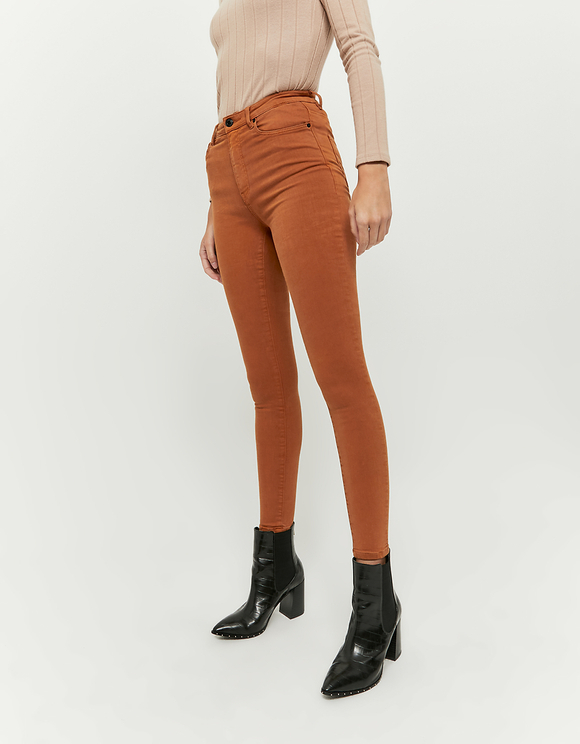 Cognac High Waist Skinny Pants