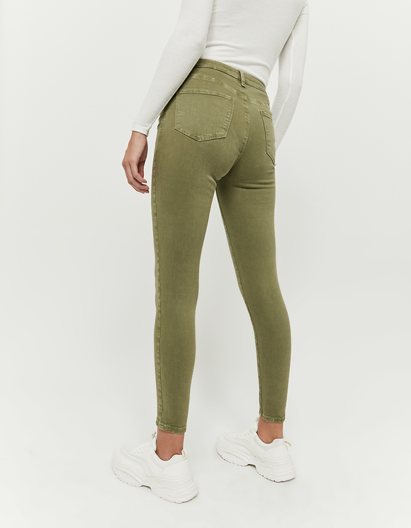 Olive High Waist Skinny Pants