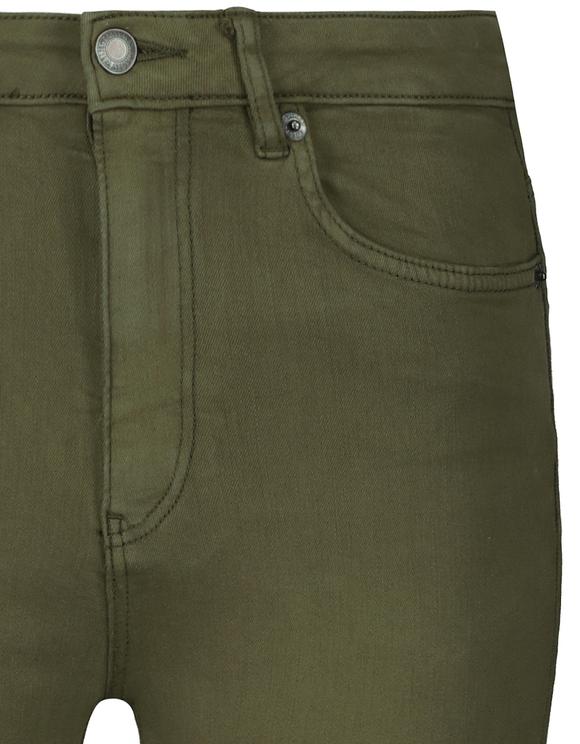 Khaki High Waist Skinny Trousers