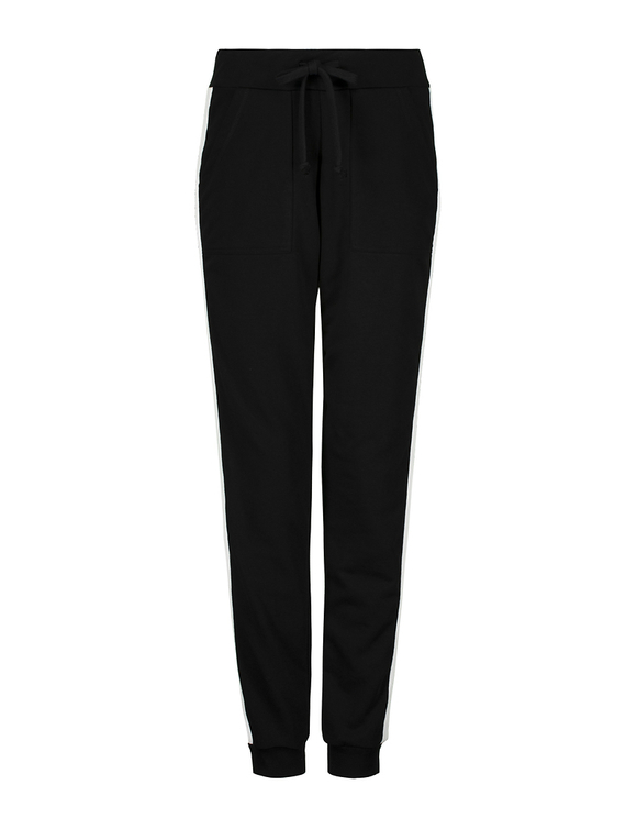 Black Joggers with Side Stripes