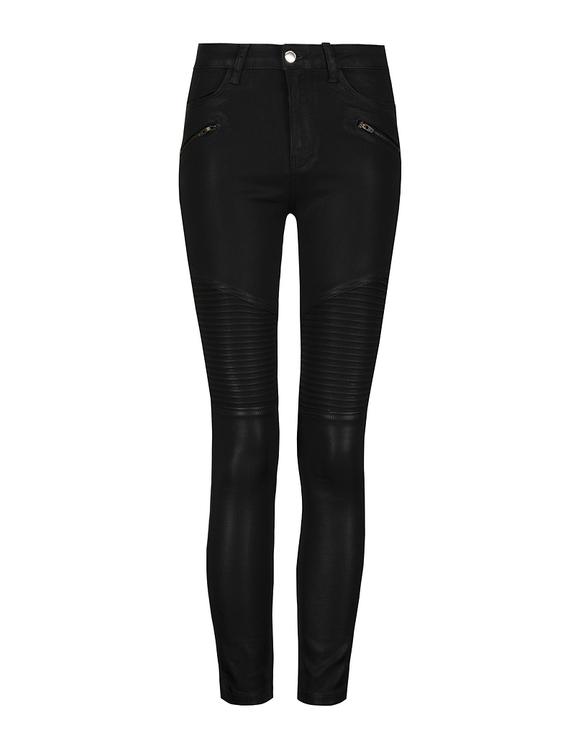 Black High Waist Biker Pants