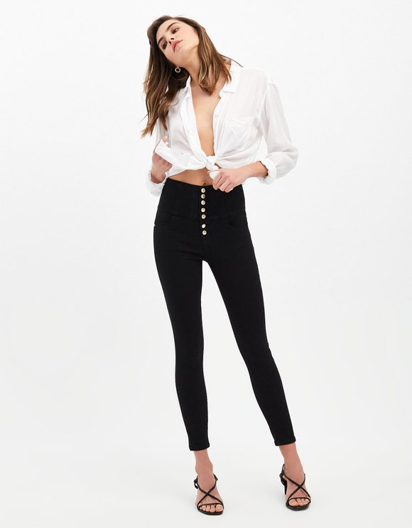 Very High Waist Button Up Hose