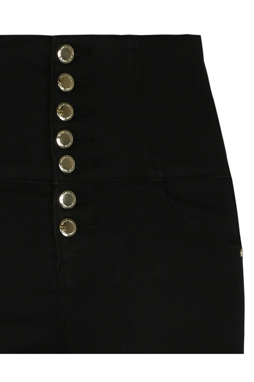 Very High Waist Button Up Trousers