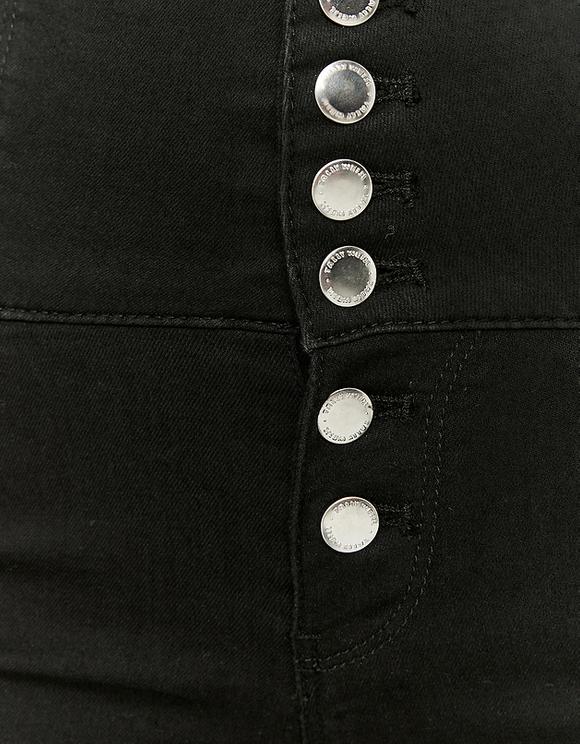 Very High Waist Button Up Hose