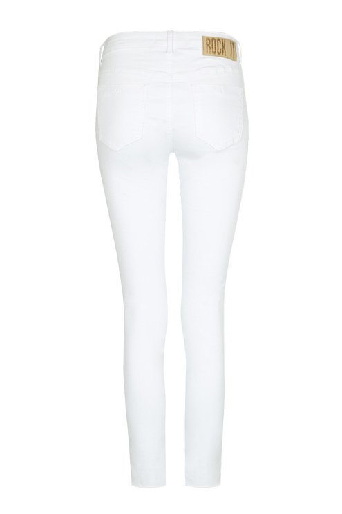 White Side Stripe Trousers