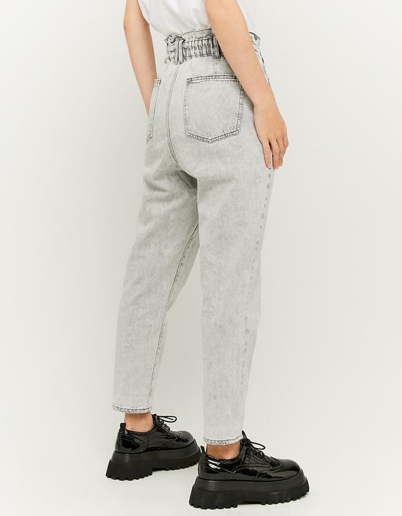 High Waist Paperbag Mom Jeans