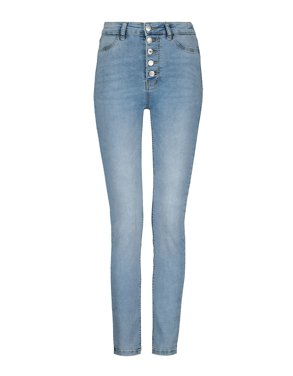 Jean Skinny Taille Haute Boutonné