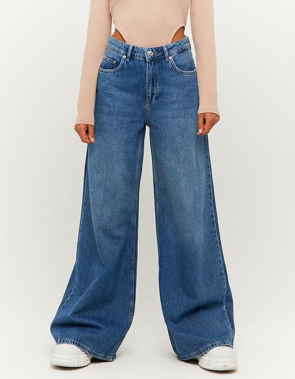 Jean Taille Haute Jambe Large