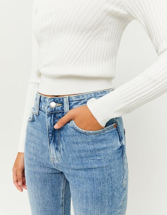 Jeans Dritti a Vita Alta