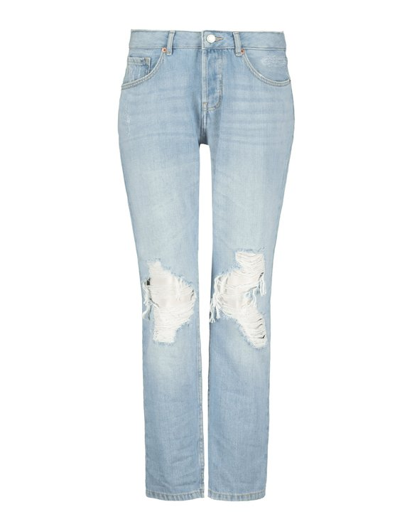 Ripped Boyfriend Denim