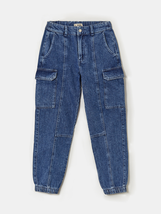 Denim Cargo Trousers