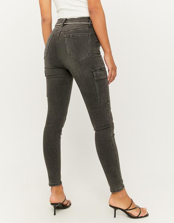 Jean Cargo Skinny Taille Haute