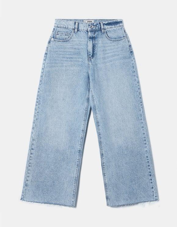 Szerokie jeansy z wysokim stanem