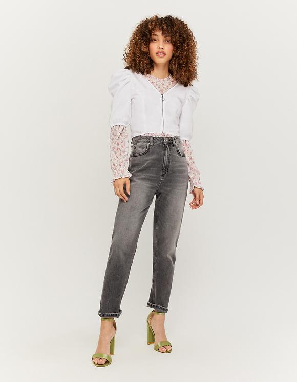 Jean Droit Taille Haute