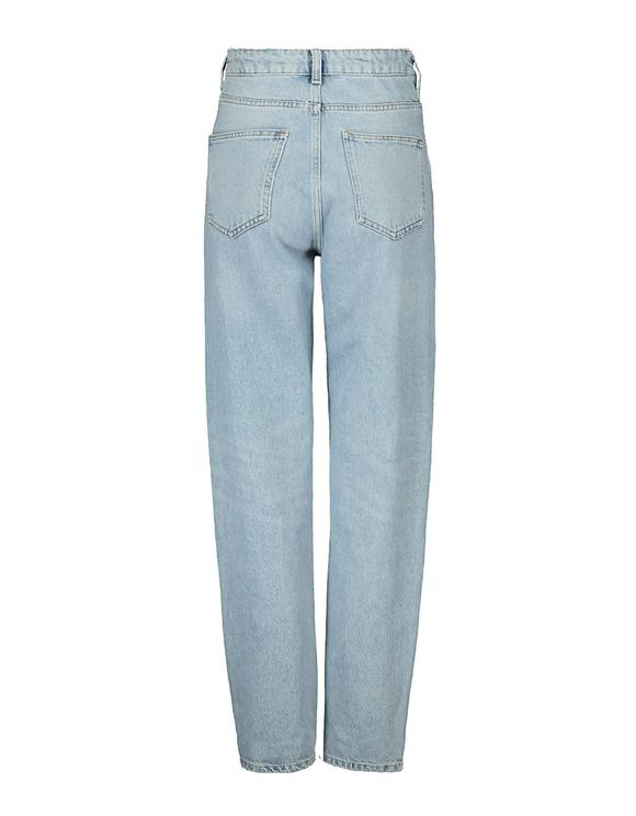 High Waist Straight Fit Zebra Jeans