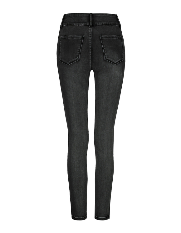 Pantalon Noir Taille Haute Skinny