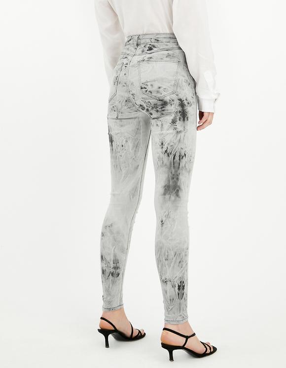 High Waist Tie & Dye Jeans