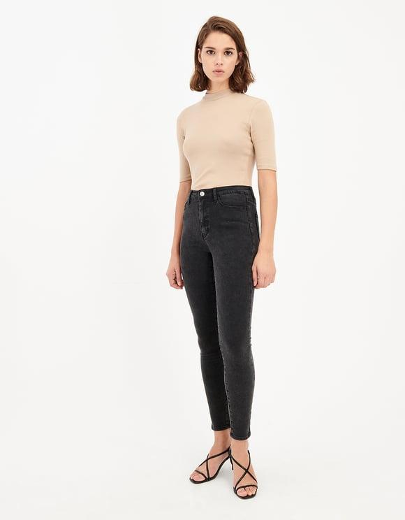 Jean Skinny Taille Haute Imprimé Serpent