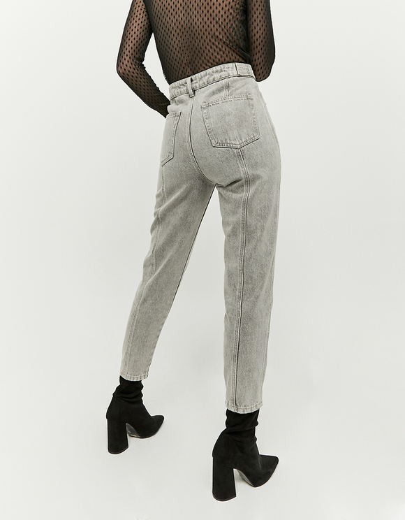 High Waist Panelled Mom Jeans